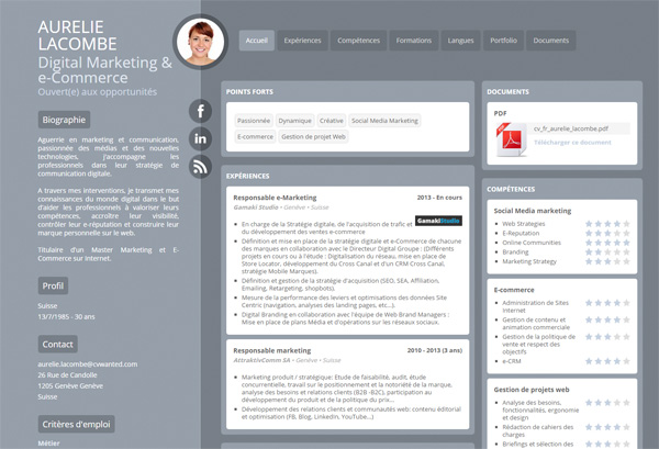 Resume designs on CVwanted - 27 web Resume designs - 10 PDF Resume ...